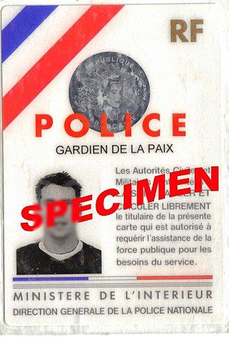 La carte actuelle et bientôt ancienne de Police