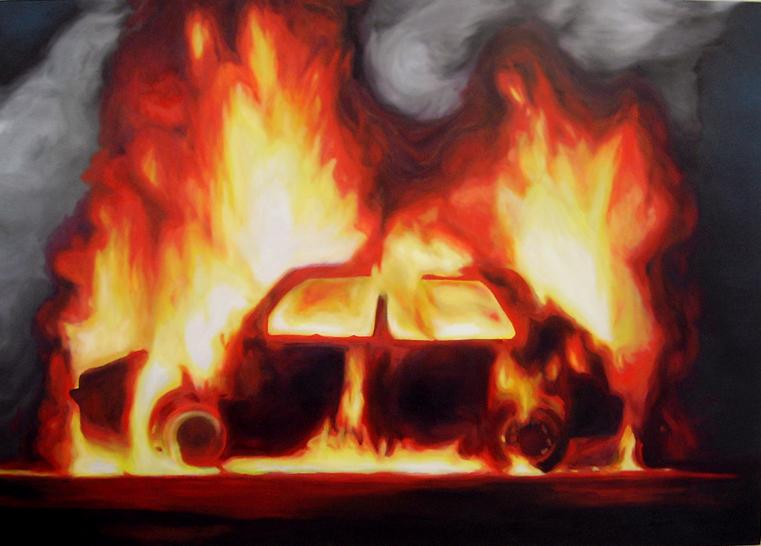 Voiture en feu comment r agir - Accident de voiture dessin ...