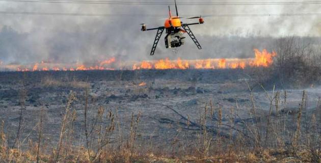 drone de surveillance des landes