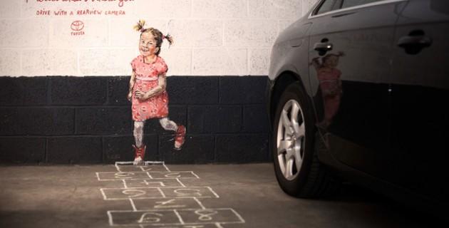 Stree-art au service de la sécurité des enfants.