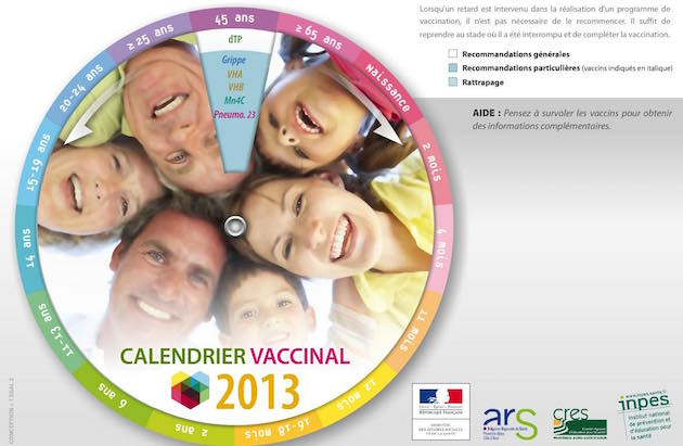 calendrier vaccinal 2013