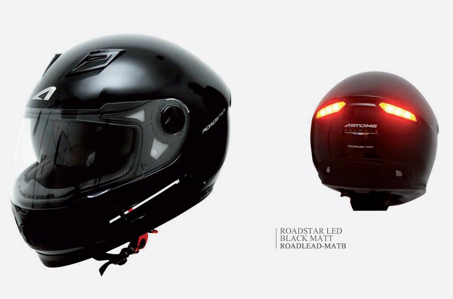 s curit moto et innovation un casque avec des feux arri re. Black Bedroom Furniture Sets. Home Design Ideas