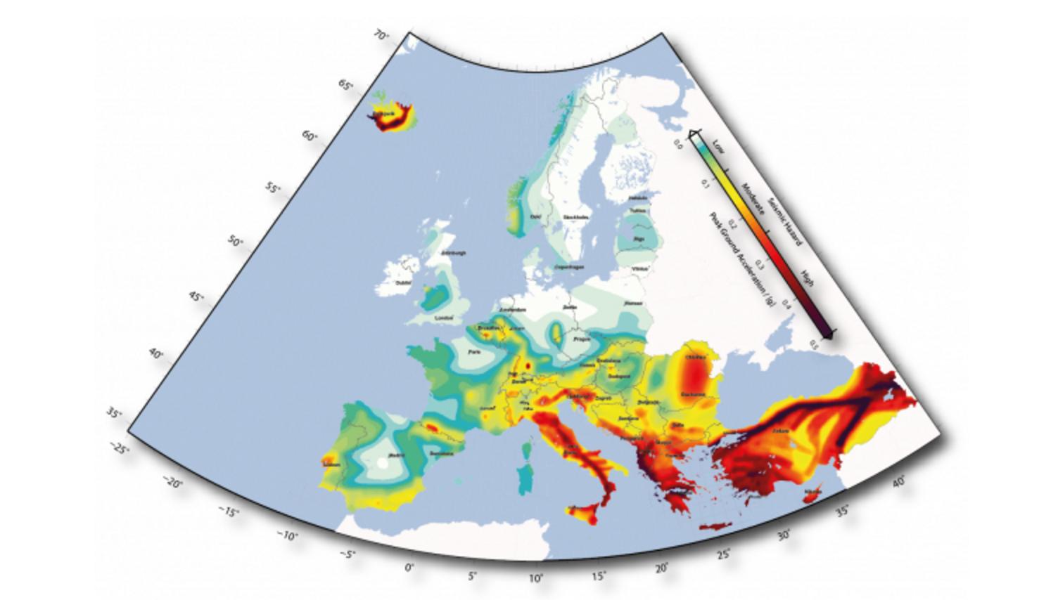 carte risque sismique