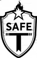 logo safe T blanc
